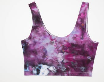 Ice Dyed American Apparel Crop Top Tank Size M
