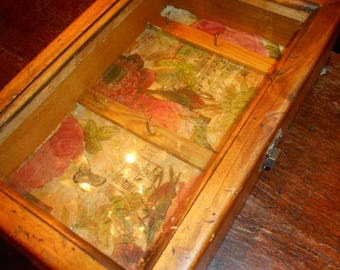 Pine Jewelery or Trinket Display Cabinet
