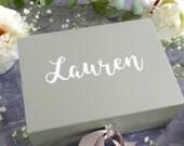 Silver Bridesmaid Box - Will you be my Bridesmaid? Proposal Gift Box-  Flower Girl Gift Box - A5 Bridesmaid Box - Metallic Gift Box