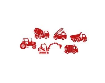 wall sticker CARS walltattoo vinyl wall decal stickers furniture truck tractor vehicles children's room child