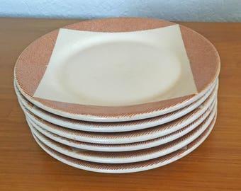 Wallace China Tweed Salad Plates - Set of 6