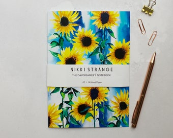 Sunflower Sky A5 Notebook with lined pages