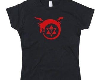 ON SALE Ladies FMA Full Metal Alchemist Homunculus Tribute Tshirt