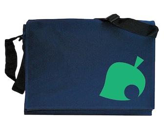 Animal Crossing Leaf Blue Messenger Shoulder Bag