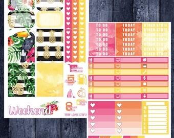 Tropical Kit for Erin Condren Life Planner Vertical Layout