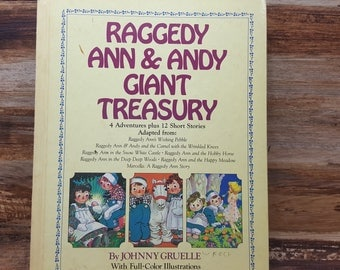 Raggedy Ann and Andy Giant Treasury, 1984, Johnny Gruelle, vintage kids book