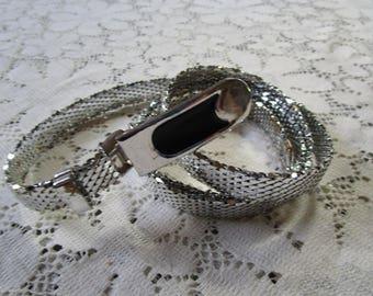 Vintage Silver Tone Mesh Belt