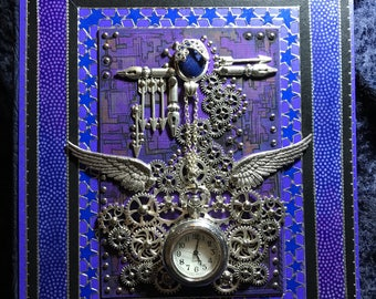 Blue  Steampunk journal