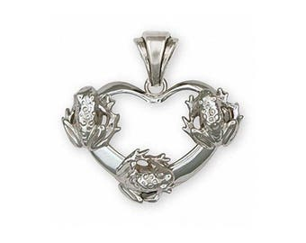 Frog Pendant Jewelry Sterling Silver Handmade Frog Pendant FG20-P
