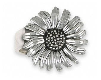 Daisy Ring Jewelry Sterling Silver Handmade Flower Ring DY5-R