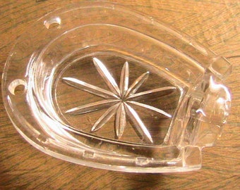 Ashtray, Glass Horseshoe Ashtray