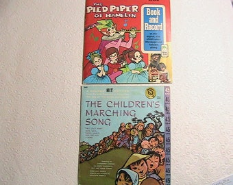 records, Children's Records and Song Book Set, Pied Piper, Marching Songs for Children