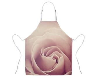 Rose Apron, Pink Floral Apron, Nature Photo Apron, Gift for Chef, Apron for Women, Pink Flower Apron, Unique Hostess Gift, Kitchen Apron