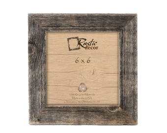 "6x6 -1.5"" wide Rustic Barn Wood Standard Wall Frame"