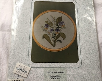 "Counted Cross Stitch Kit ""Lily of the Valley"" by Sarah May Designs"