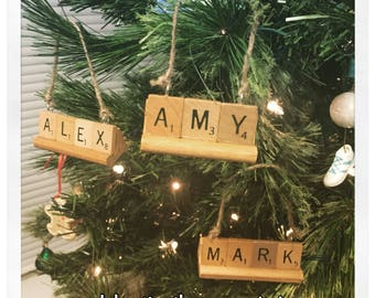 Personalized Christmas Ornament, CHOOSE ANY Name (up to 9 letters), grandkids ornament, Team Name Ornaments