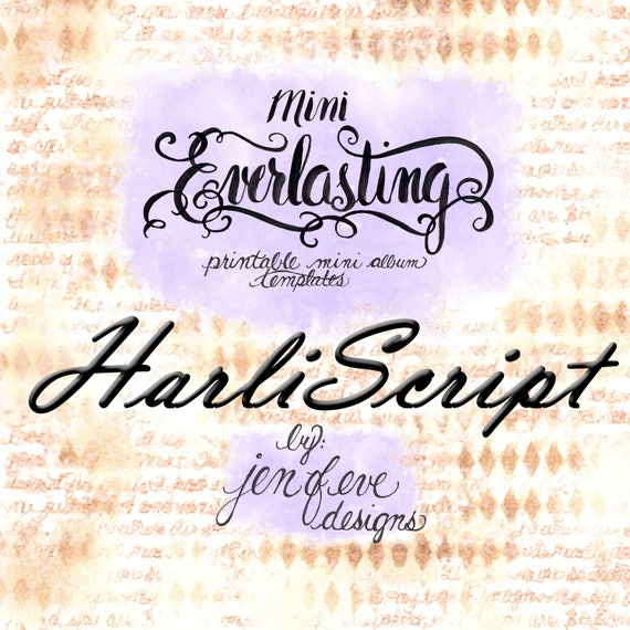 Mini Everlasting Printable Mini album Template in HARLISCRIPT and PLAIN