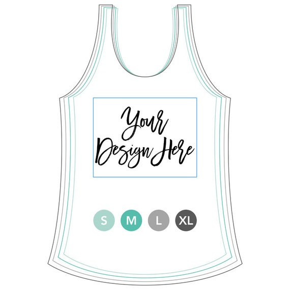 White  logo racerback tank top logo tank branding tank design your own shirt logo shirt summer tank logo tank