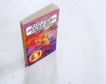 Around The World In Eighty Days by Jules Verne (1990, Aerie) Vintage Literature & Fiction Paperback