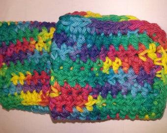 Set of 2 Crochet Washcloths
