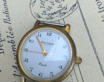 French vintage twist watch bronze frame Quartz stainless steel back Made in France excellent working condition woman lady style no bracelet