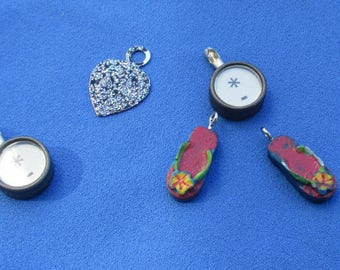 Lot Of Salvaged Pendants Dangles Sandals
