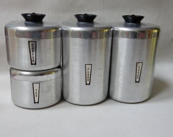 Aluminum Canister Set of 4
