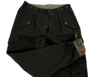 Vintage Original Wool Military Pants / Mens Military Pants / Mens Army Pants / Wool Military Pants /