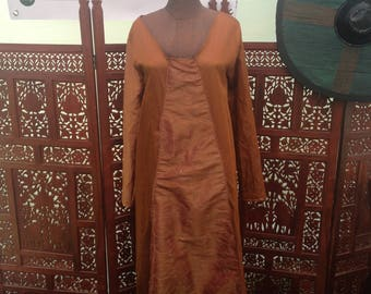 Pre-Made Satin Tunic Dress - Small