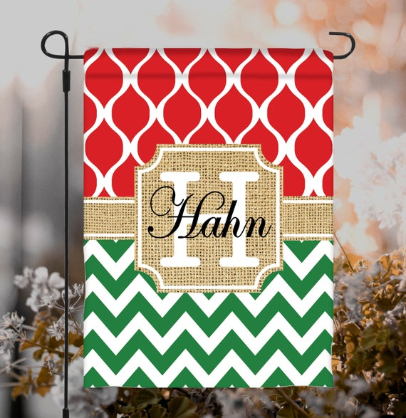 Christmas Garden Flag Personalized Outdoor Christmas Decor Garden Gift Christmas Holiday Decor Hostess Gift Christmas Flag Personalized