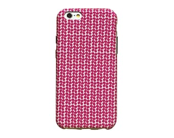 Hot pink petals phone case for an iPhone 6 or iPhone 6 Plus
