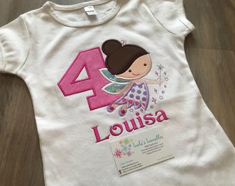 Fairy princess birthday shirt, choose your colours