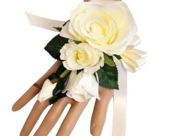 Wrist Corsage-Beautiful Keepsake rose wrist corsage-Pick Colors