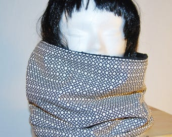 Snood, scarf fleece geometric patterns