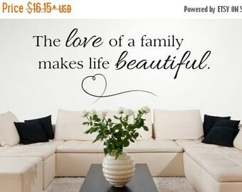 CLEARANCE SALE Family Wall Decals - Home Quote Wall Decal - Wall Decal - Vinyl Wall Decals- Wall Decor - Decal - Family Quotes Wall Decals