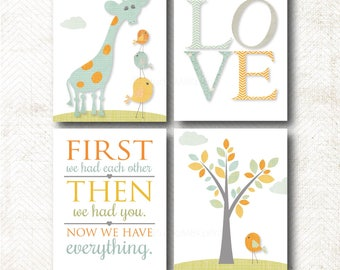 Love, First we had each other, then we had you, Art Print Set