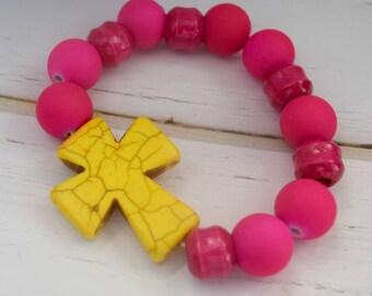 Gift-For-Best Friend    Christian Bracelet Jewelry, Gift-For-Sister, Christian Jewelry Bracelet, Cross Gift For Wife, Gift-For-Mom