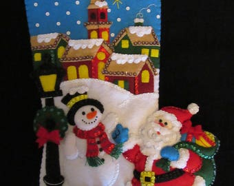 """Bucilla Christmas Village 18"""" - Completed"""