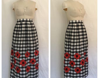 Vintage 1960's Vera Gingham Skirt