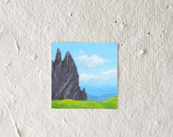 Pointy Mountain - Tiny Art Print!