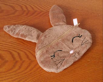Bunny Zippered Pouch