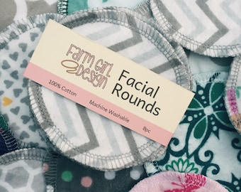 Facial rounds | Makeup Remover | Facial Towel | Flannel Scrubby | Soft Scrubbies | Cotton Rounds | Makeup Wipes | Reusable Face Pads
