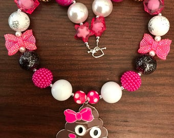 "Emoji ""Poop"" Inspired Bubble Gum Necklace (Child)."