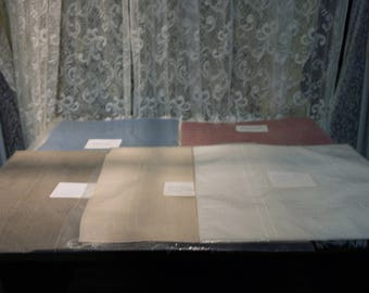 """Cross Stitch Pillow Squares, 5 Packages, 2 in Each Package, 11"""" X 12"""""""