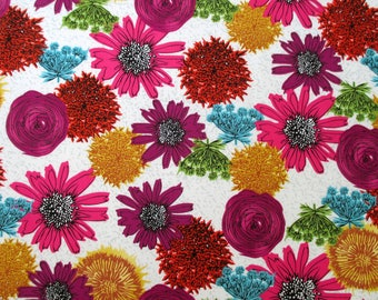 NEW Makers Home Large Floral Pink Orange Natalie Barnes Windham fabric BTY