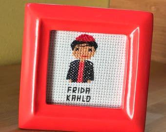 Frida Kahlo Cross Stitch Portrait