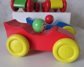 Little wooden racing car