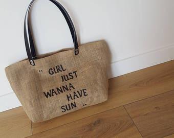 Customizable jute little bag