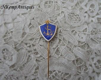 Antique enamel stick pin 1910