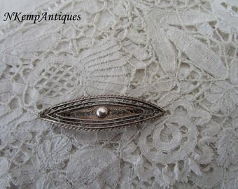 Real silver brooch